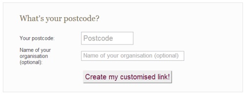 Create a customised link